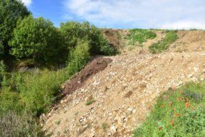 Bolus Grube Troschenreuth mit verfülltem Fremdmaterial